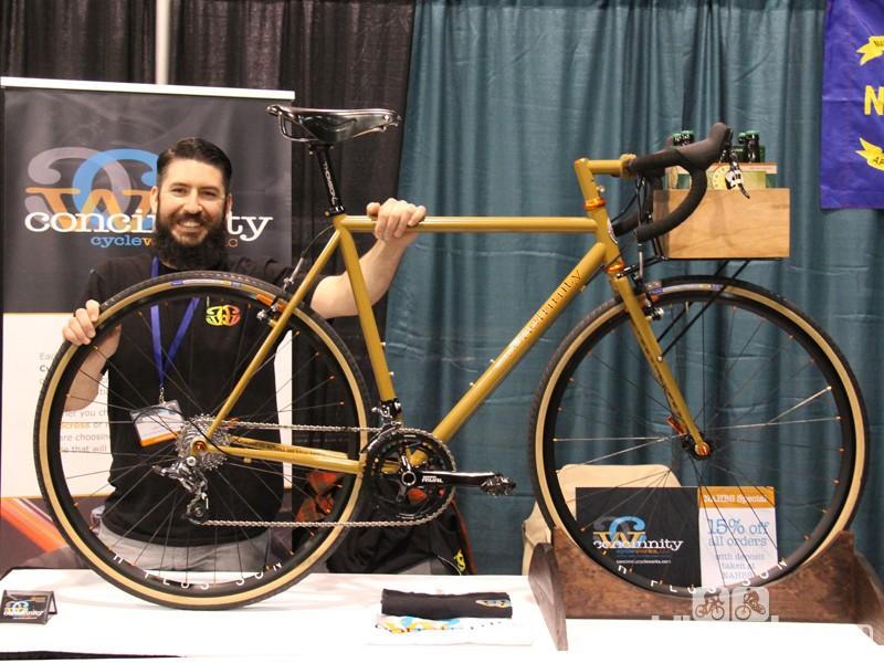 Luke Devine of Concinnity Cycleworks an engineer turned framebuilder