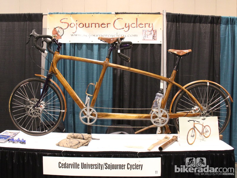 While there are always a handful of wooden bikes at NAHBS, wooden tandems are quite uncommon