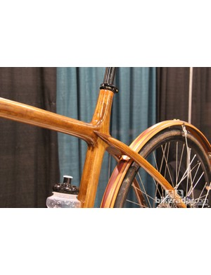 Wooden fenders to match the wooden frame on this Sojourner tandem
