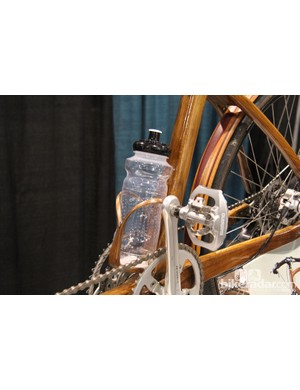 Kinsinger even made his own wooden water bottle cages