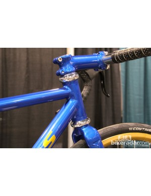 Painted to match stem on Zukas' frame. Zukas does all his own paint work, too