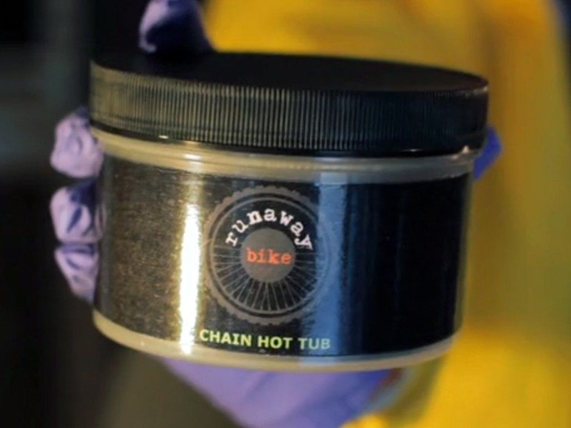 Runaway Bike is launching a paraffin wax-based chain lubricant called Hot Tub