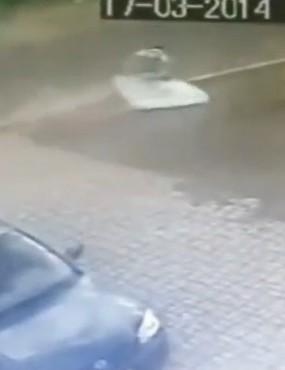 Cyclist lands on mattress