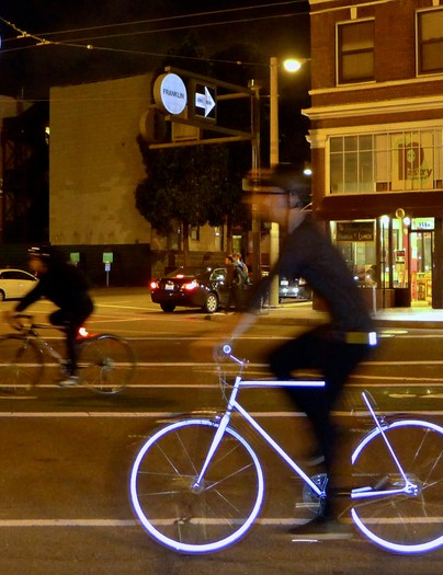 The Mission Lumen stands out at night - cool and safe