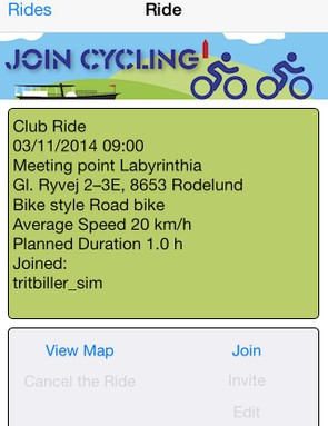 Joincycling: a straightforward calendar app to get social rides off the ground