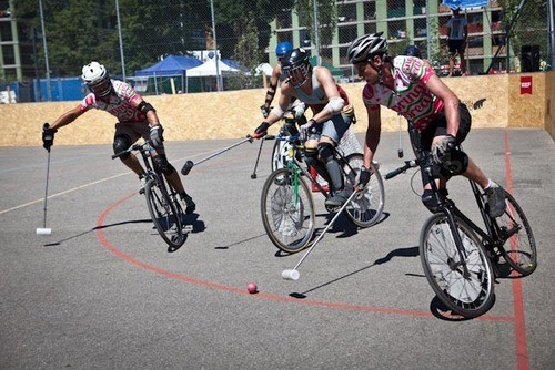 Bike Polo is a fast and skilled game that's plenty entertaining to watch