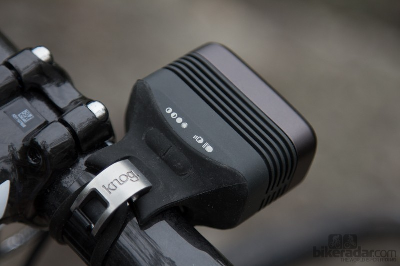 Installation of the Blinder Road 3 couldn't be easier – but that clasp is a flick from sending the light flying