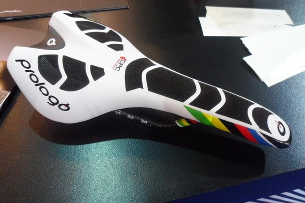 The new revised Prologo Nago Evo in World Champion colours