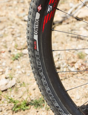 Blair saves weight with a skinnier rear tyre: the S-Works Renegade in 1.95
