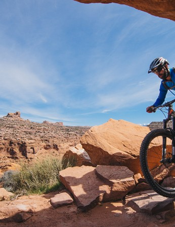 The Porcupine Rim descent is long and unforgiving, and a real test for bikes, and especially brakes