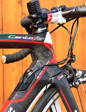 Wilier Triestina builds the Cento 1 AIR frame with Kamm-style truncated airfoil profiles
