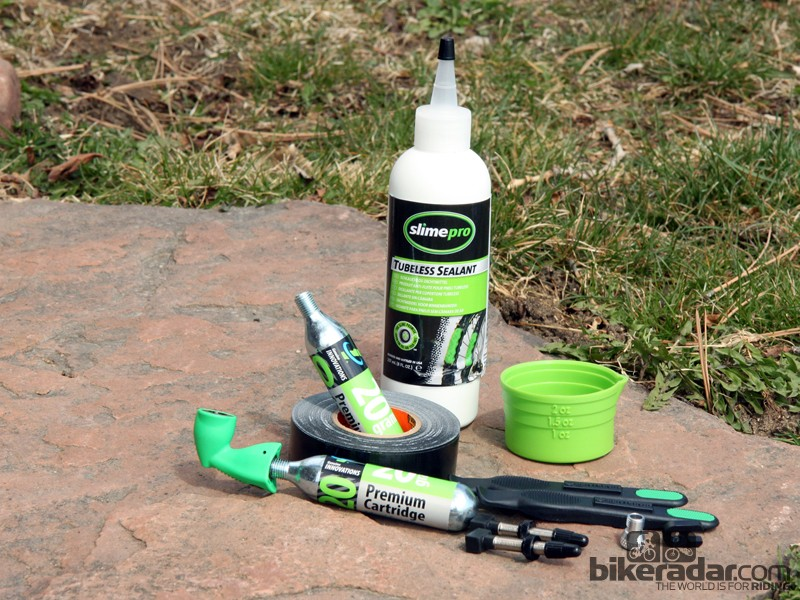 Slime and Genuine Innovations have teamed up to create an impressively comprehensive tubeless conversion kit