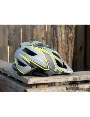 The Troy Lee Designs A1 helmet covers more of your head than typical XC helmets. The shape is also goggle-friendly
