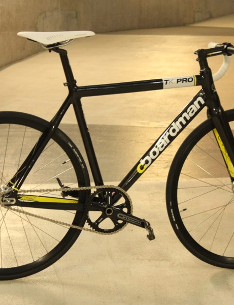 The new Boardman TK Pro is ready to race on the track, but is drilled for brakes if you want to take it on the road