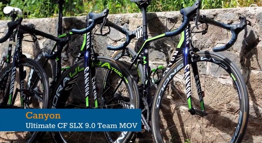 The Canyon CF SLX 9.0 that's being ridden by Movistar