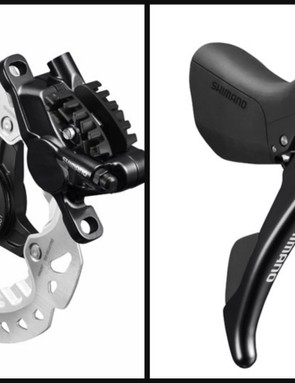 Shimano ST-RS685 lever, BR-RS785 caliper and SM-RT99 rotor
