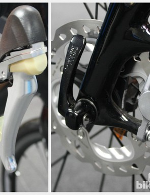 Shimano pre-production BR-RS785 hydraulic mechanical brake system
