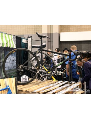 Broakland showed off this tidy steel road racer at this year's NAHBS