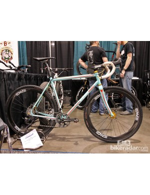 Ohio-based builder Capitol Bicycles displayed this beautifully painted gravel grinder