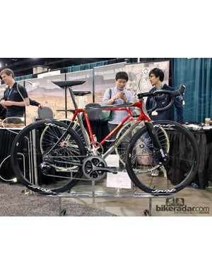 Cherubim built this road bike with Reynolds' new 921 stainless steel tubing