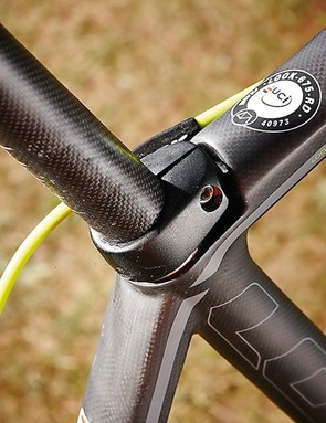 Like the stem, the seatpost clamp is integrated for a clean look