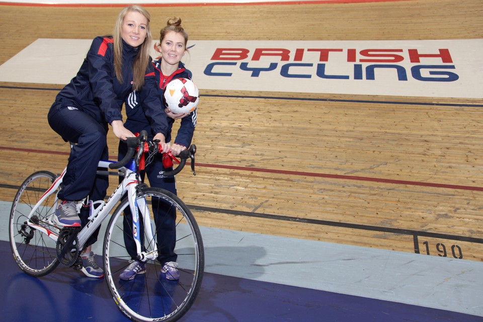 Members of the Great Britain cycling team and England national side helped launch the new initiative