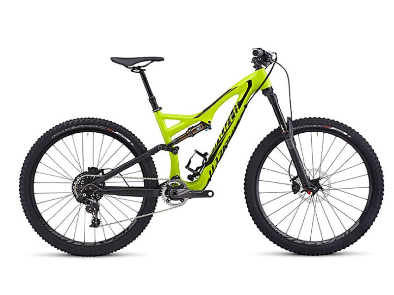 Specialized has just added two 650B models to its site. Pictured here is the US$6,500 Stumpjumper FSR Expert Carbon EVO