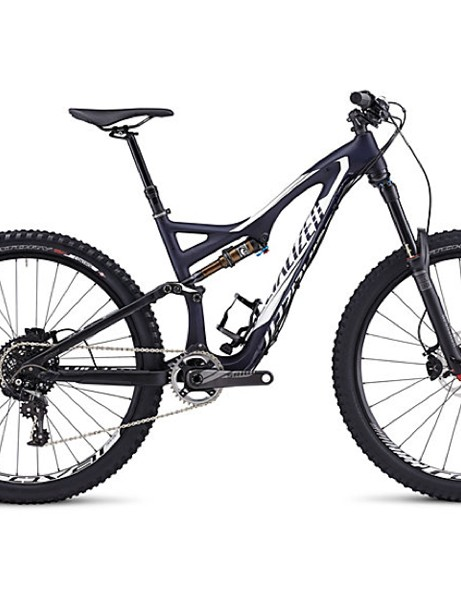 The Stumpjumper FSR Expert Carbon EVO will also be offered in Satin Blue Tint Carbon/Metallic White/Black
