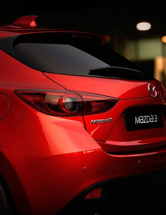 All-new Mazda3 Hatchback: the boot space is 364 litres, which is perfect for kit bags, spare wheels, bikes and track pumps. Drop the seats and throw the bike in, too