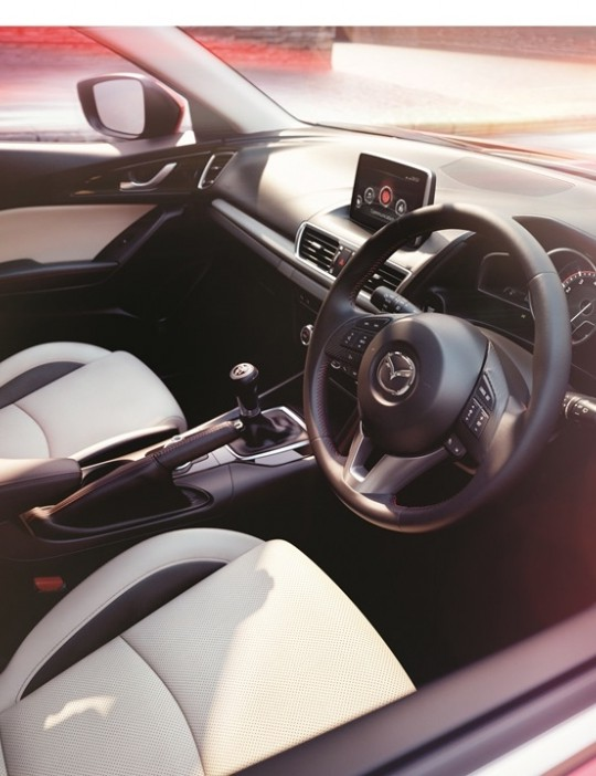 Settle into the sporty seats and appreciate the attention to detail of this driving environment. The all-new Mazda3 interior has a luxurious and sumptuous feel with soft-touch materials, piano black and silver accent finishes