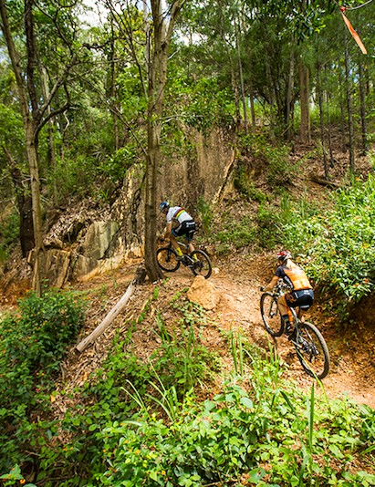 Some section of the XCO course are flowy, others are extremely technical