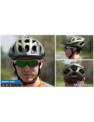 Lazer's Cyclone helmet is highly comfortable and has strong ventilation - but cheap construction