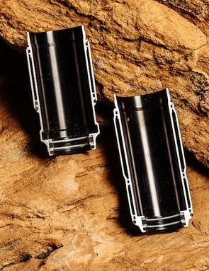 These cutaways show the chambers within the shocks' air sleeves used to increase their volume