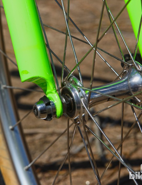 Another Fat City Cycles trademark was the curved ends on the fork blades