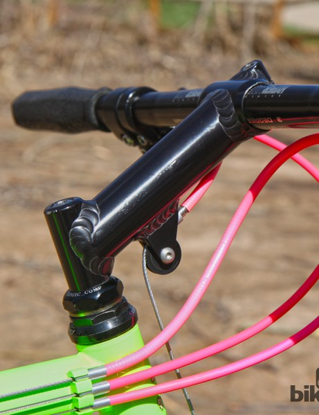The welded aluminum American stem featured a built-in roller for the front cantilever brake