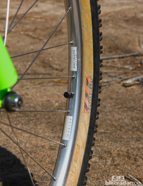 Given their age, we can forgive the faded labels on these Specialized aluminum rims