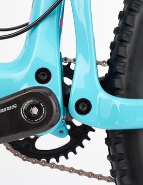 The 1x-specific frame design allows Santa Cruz to dramatically shorten the lower link