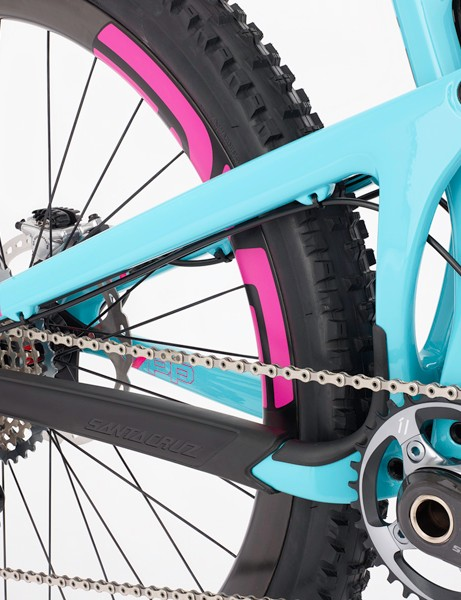 The Nomad's 1x frame design also allows for an upright brace on the drive-side
