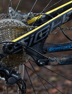 Norco's ART design delivers a rearward axle path designed to eat up square-edged bumps