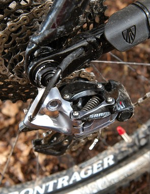 The SRAM XX1 rear mech helps deliver clean and crisp shifting