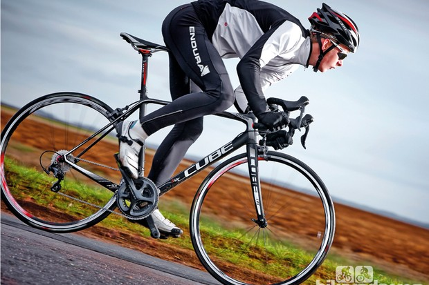 Kit on Cube's Litening Super HPC Pro includes new Ultegra 11-speed, Fulcrum's Racing 55s, Schwalbe's tyres and a Syntace bar