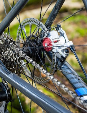 The Boone 5's 11-30 Tiagra cassette and FSA's Energy 46/36 chainset offer plentiful range