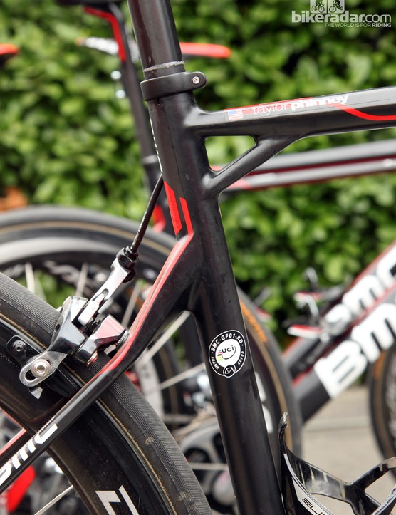 Does BMC's Tuned Compliance Concept design work? Our experience says yes, at least as long as you're hitting bumps fast and hard, which Phinney is sure to do during both Ronde van Vlaanderen and Paris-Roubaix