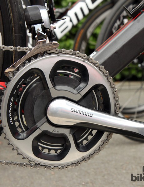 Phinney's main race bike was fitted with an SRM power meter on the Friday before Ronde van Vlaanderen