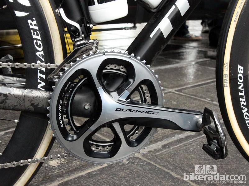 Fabian Cancellara (Trek Factory Racing) races old-school with no power meter to override his gut