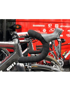 Double-wrapped traditional-bend 3T bars for BMC rider Greg Van Avermaet