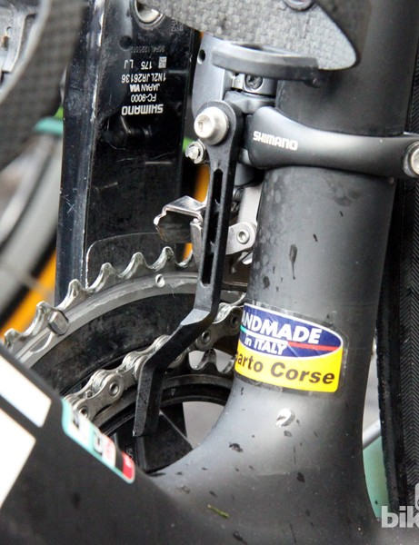 A simple chain catcher for Sep Vanmarcke's Belkin Bianchi Infinito CV