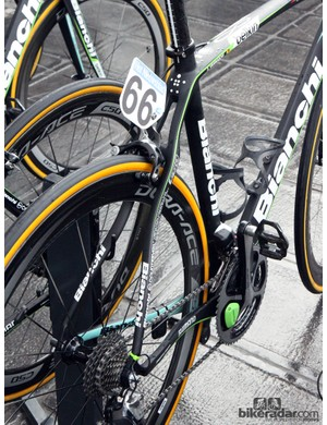 Bianchi claims its Countervail technology - as found on Sep Vanmarcke's (Belkin) Infinito CV frame - is exceptionally good at attenuating vibration