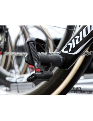 While many riders were on Look's newer KéO Blade 2 pedals, Tom Boonen (Omega Pharma-QuickStep) opted for the original version
