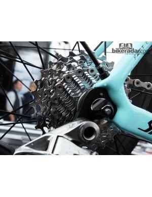Even Tom Boonen (Omega Pharma-QuickStep) turned to an 11-28T cassette for Ronde van Vlaanderen's nasty cobbled climbs